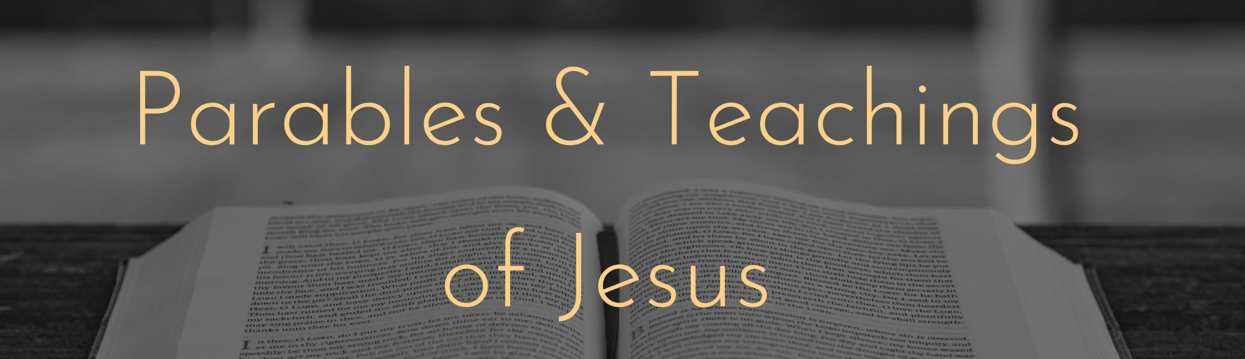 parables and teachingsbanner